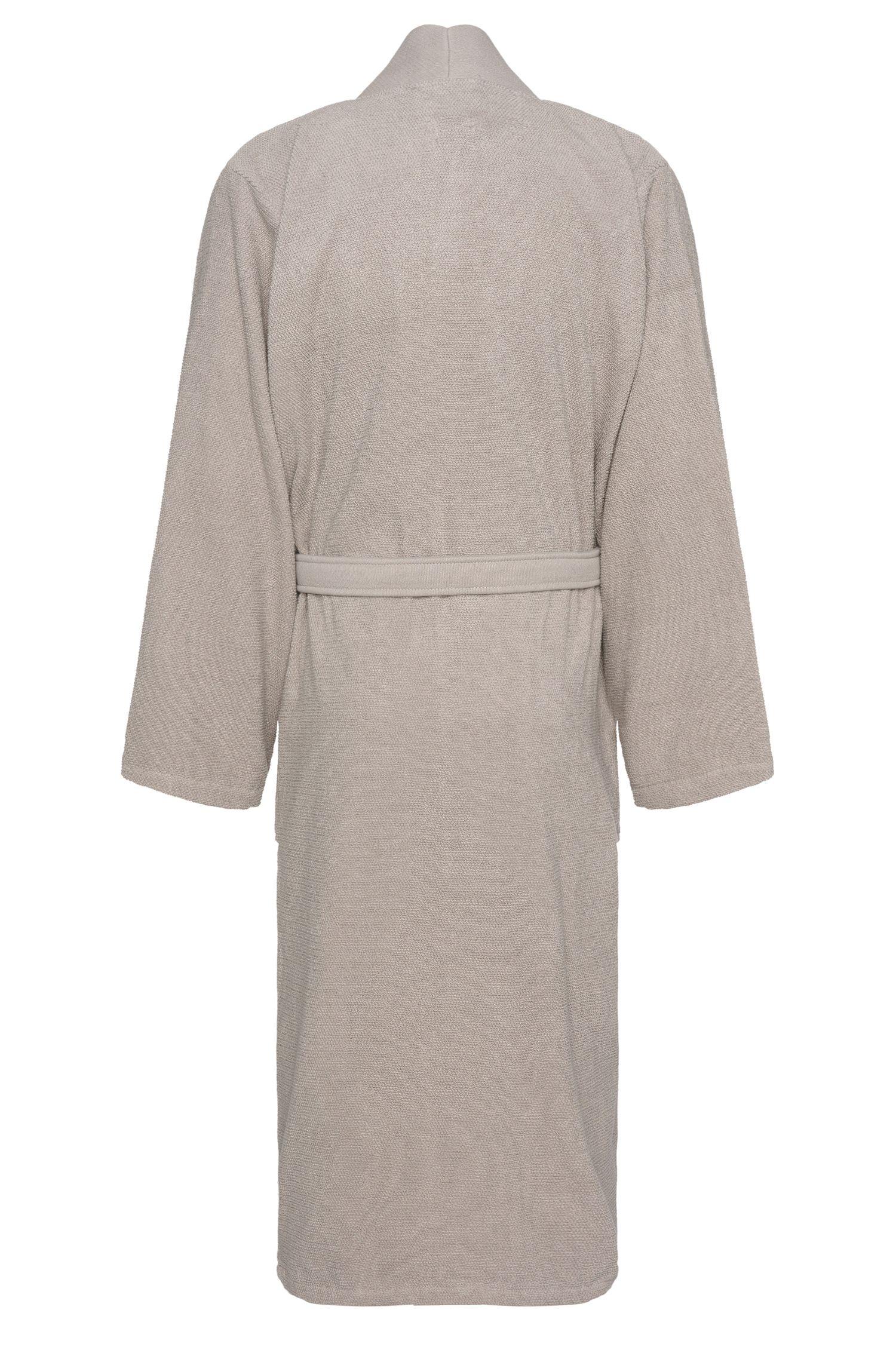 Kimono-style bathrobe in combed Aegean cotton
