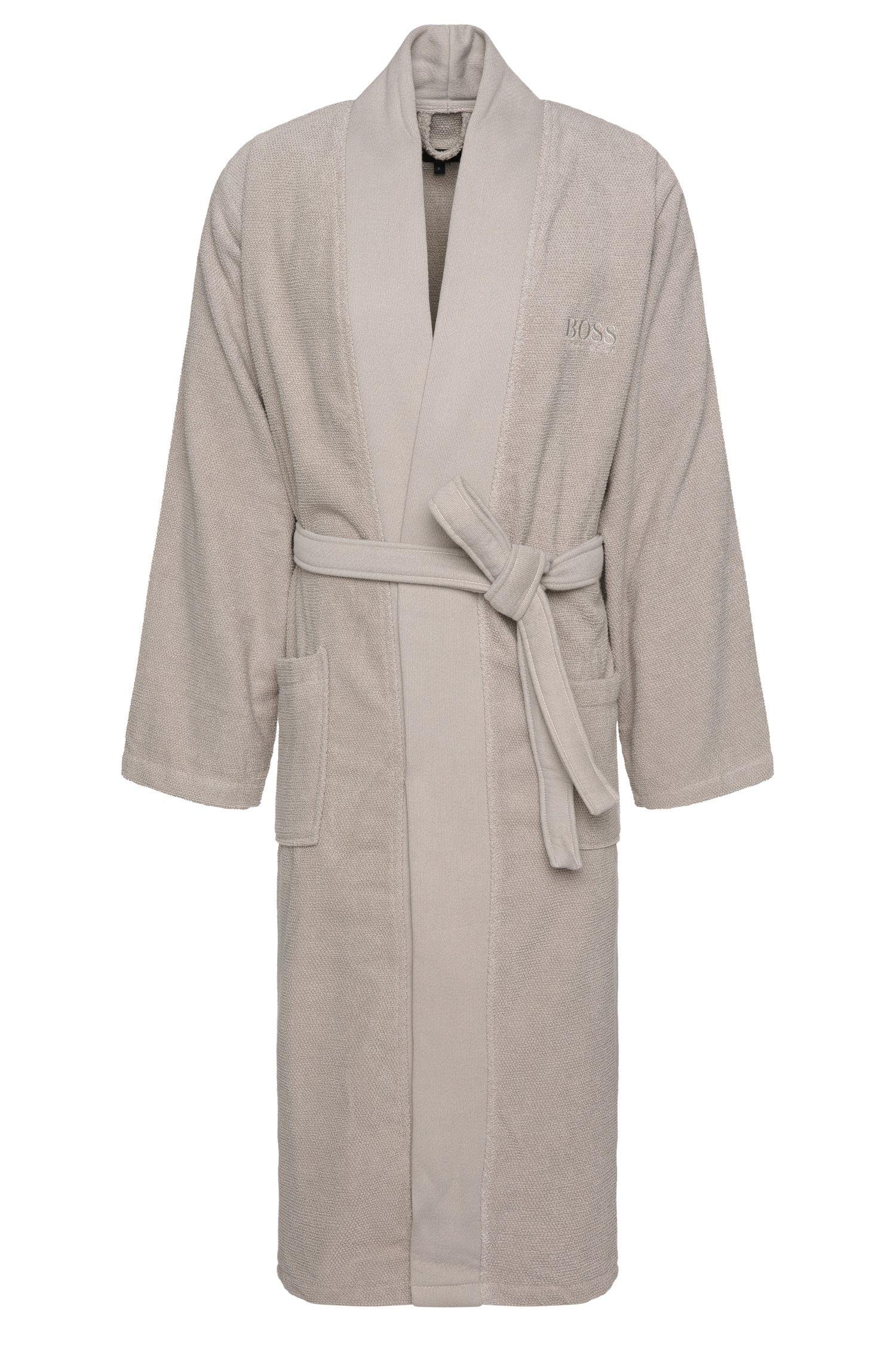 Peignoir en coton avec ceinture à nouer: «Kim-Loft-275M»
