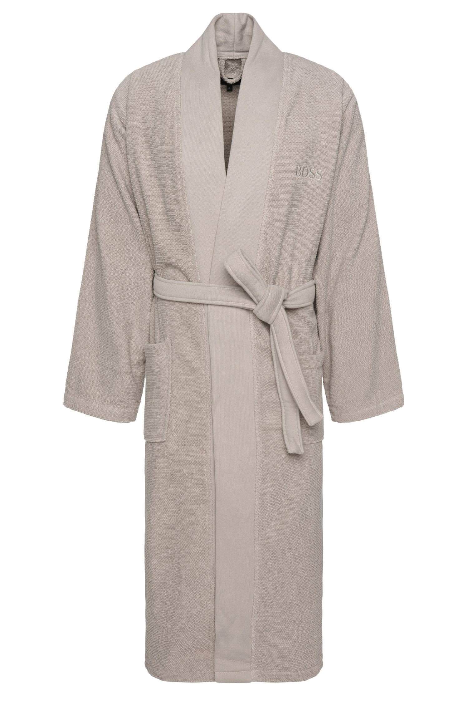 Peignoir style kimono en coton peigné de la mer Égée