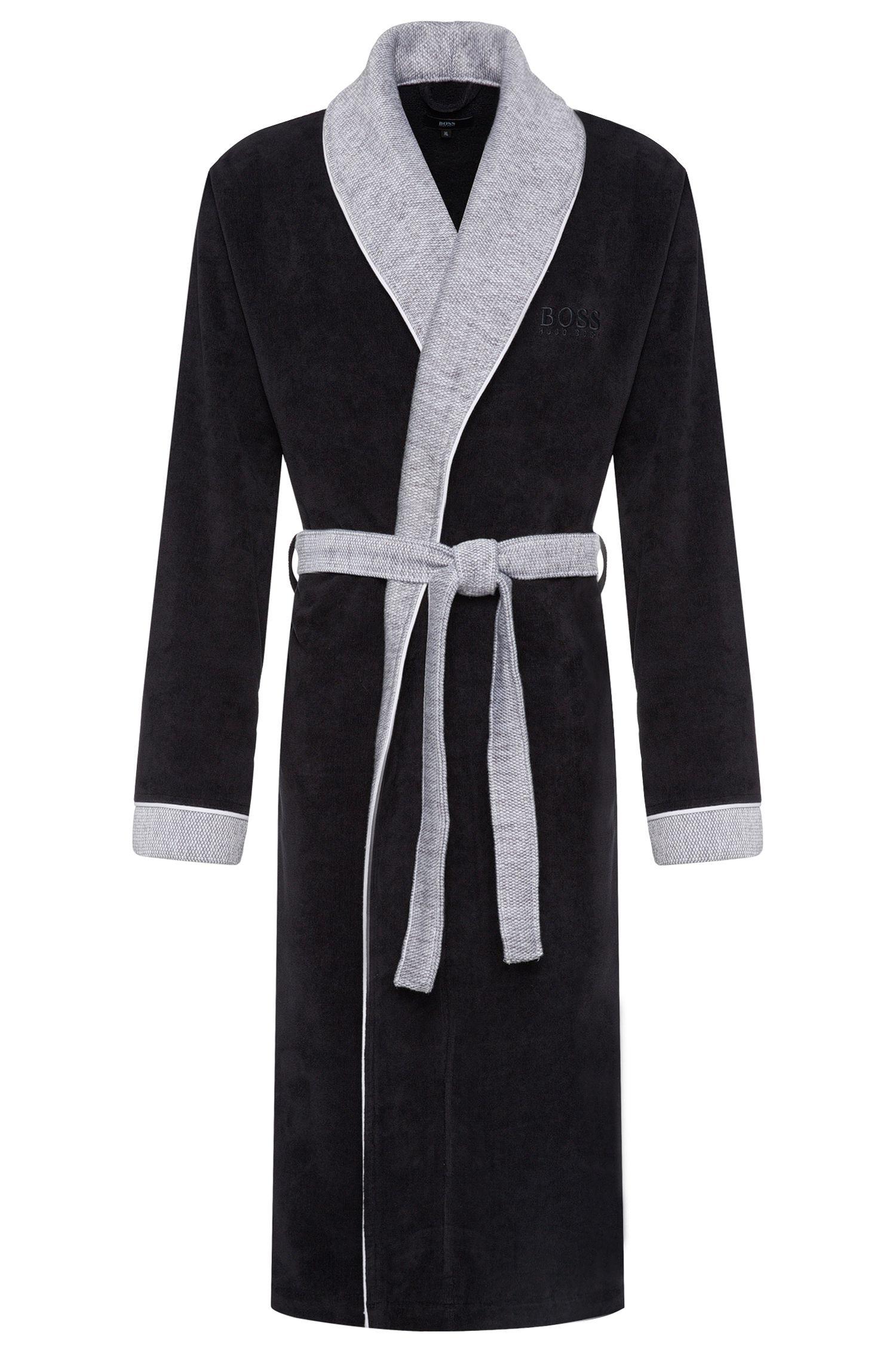 Peignoir en coton à détails de couleur contrastante: «Kimono»