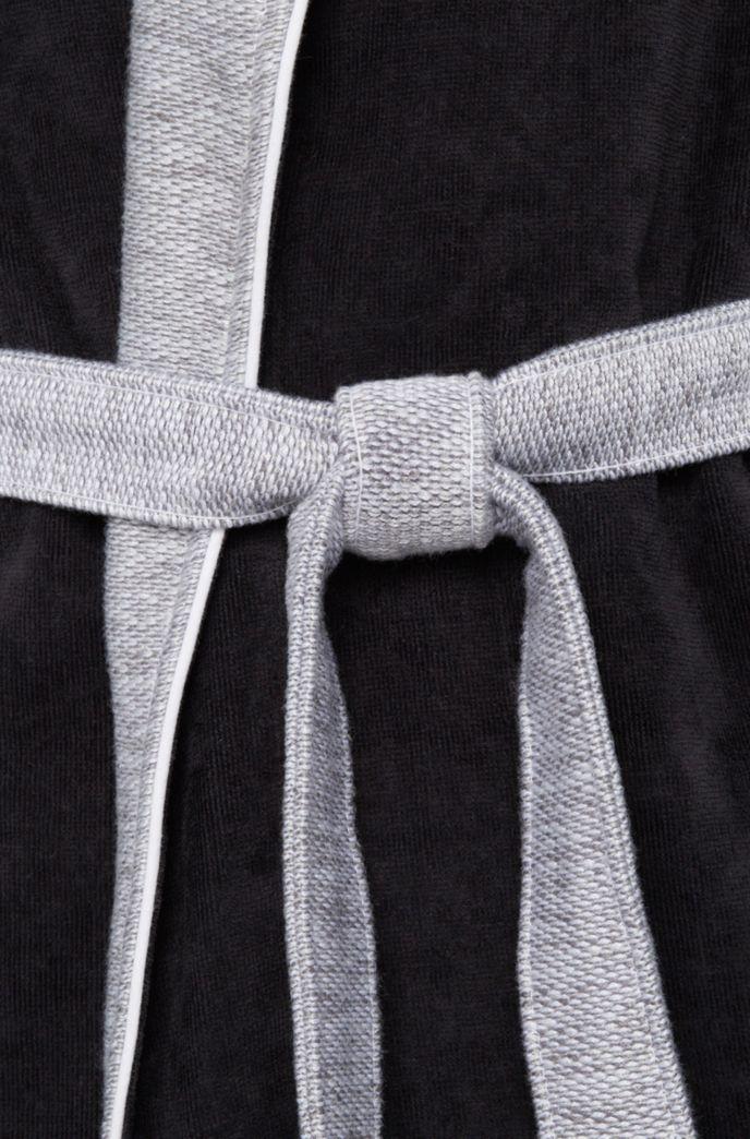 Accappatoio in cotone con collo a scialle