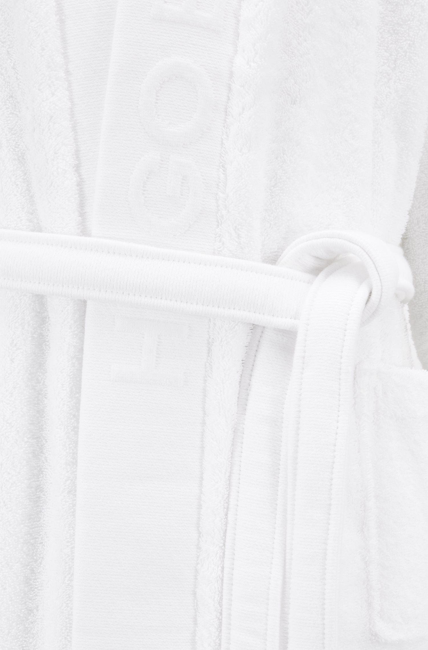 Peignoir unisex en coton égyptien, Blanc