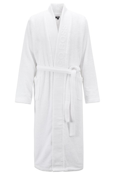 BOSS - Hooded dressing gown in Egyptian cotton
