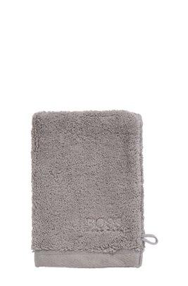 Waschhandschuh aus gekämmter ägäischer Baumwolle, Silber