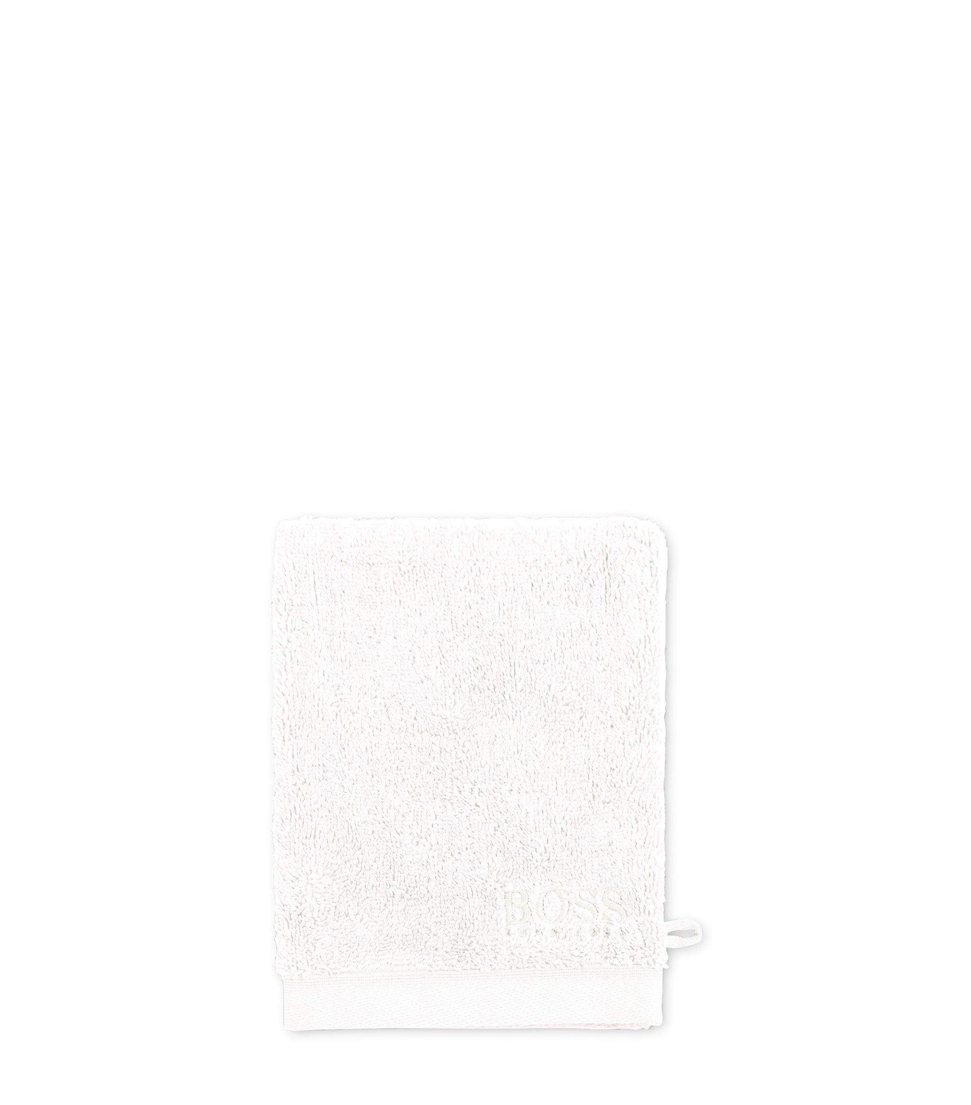 Waschhandschuh aus gekämmter ägäischer Baumwolle, Weiß