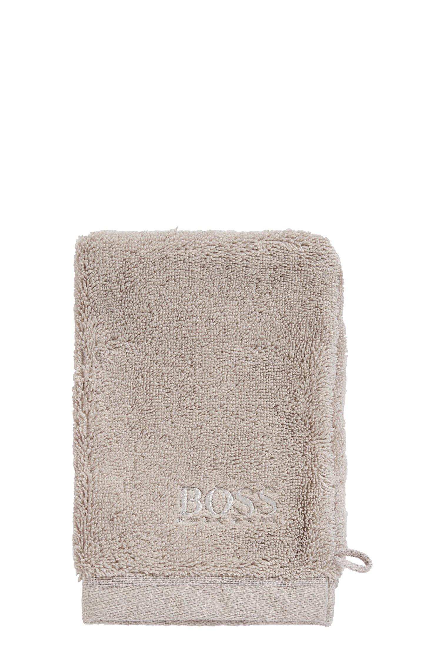 Washing mitt in combed Aegean cotton, Light Beige