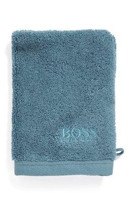Washandje van gekamde Egeïsche katoen, Donkerblauw