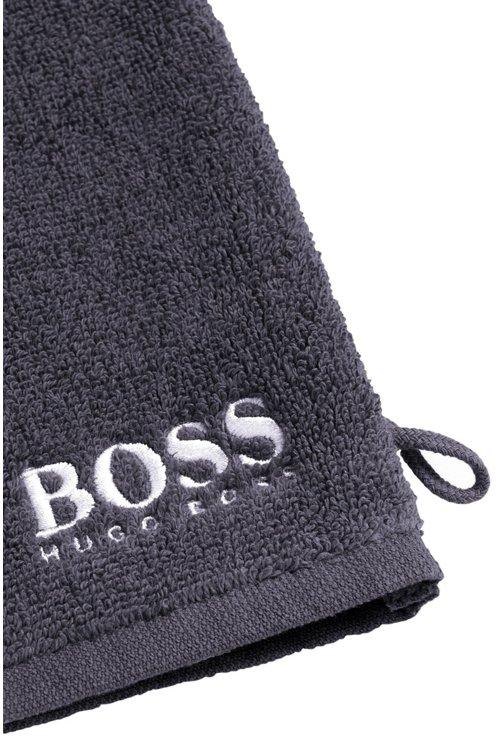 Hugo Boss - Manopla de baño en algodón egipcio de primera calidad con logo bordado en contraste - 2