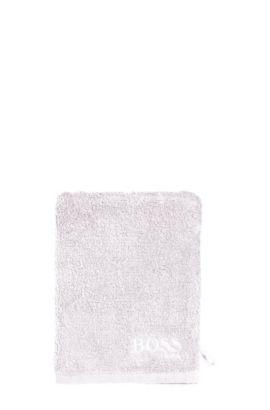 Guantes de baño 'PLAIN' en algodón, Plata