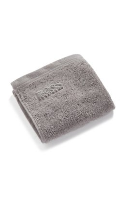 Waschlappen aus gekämmter ägäischer Baumwolle, Silber