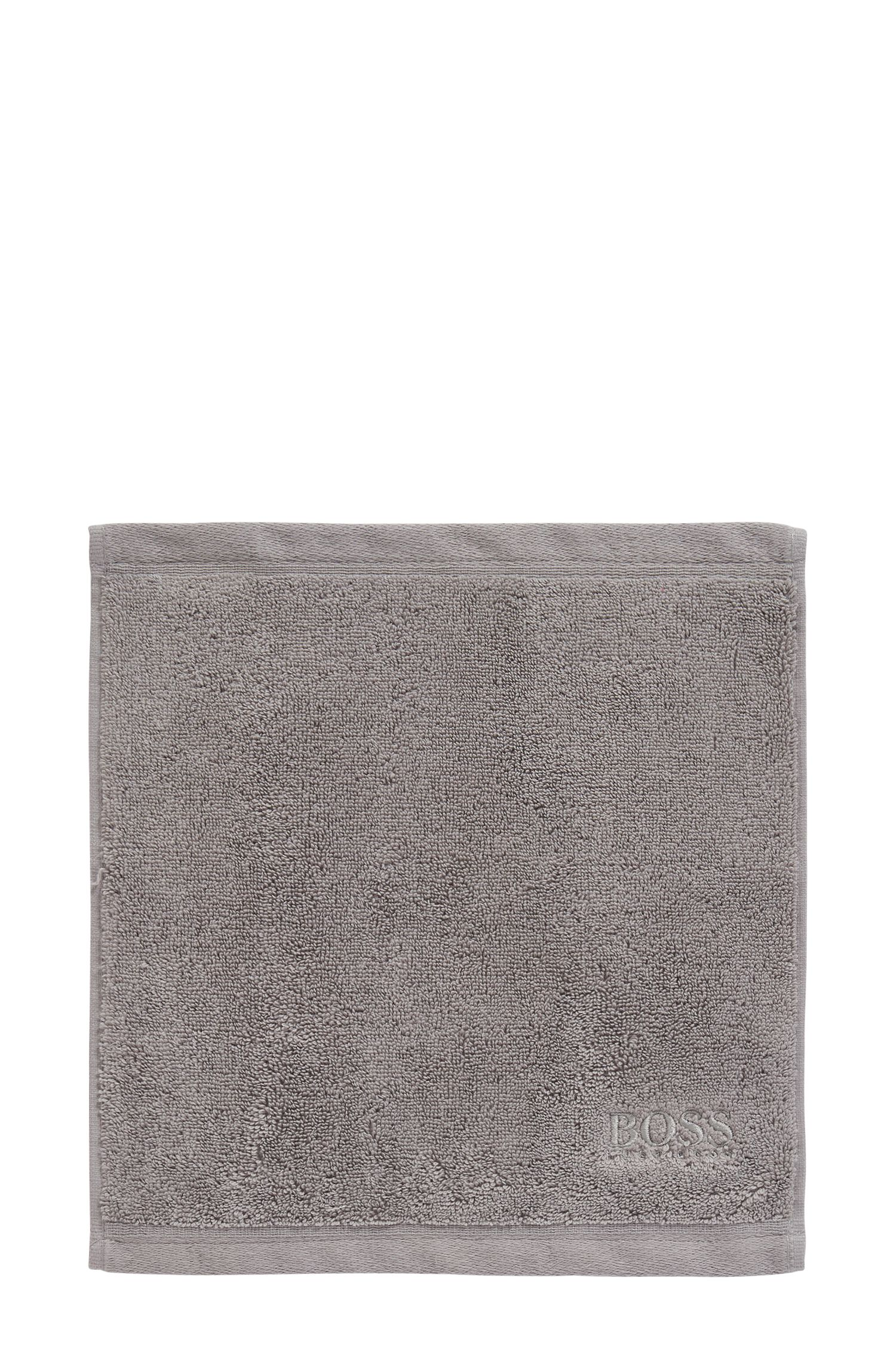 Serviette de toilette pour le visage en coton peigné de la mer Égée, Argent