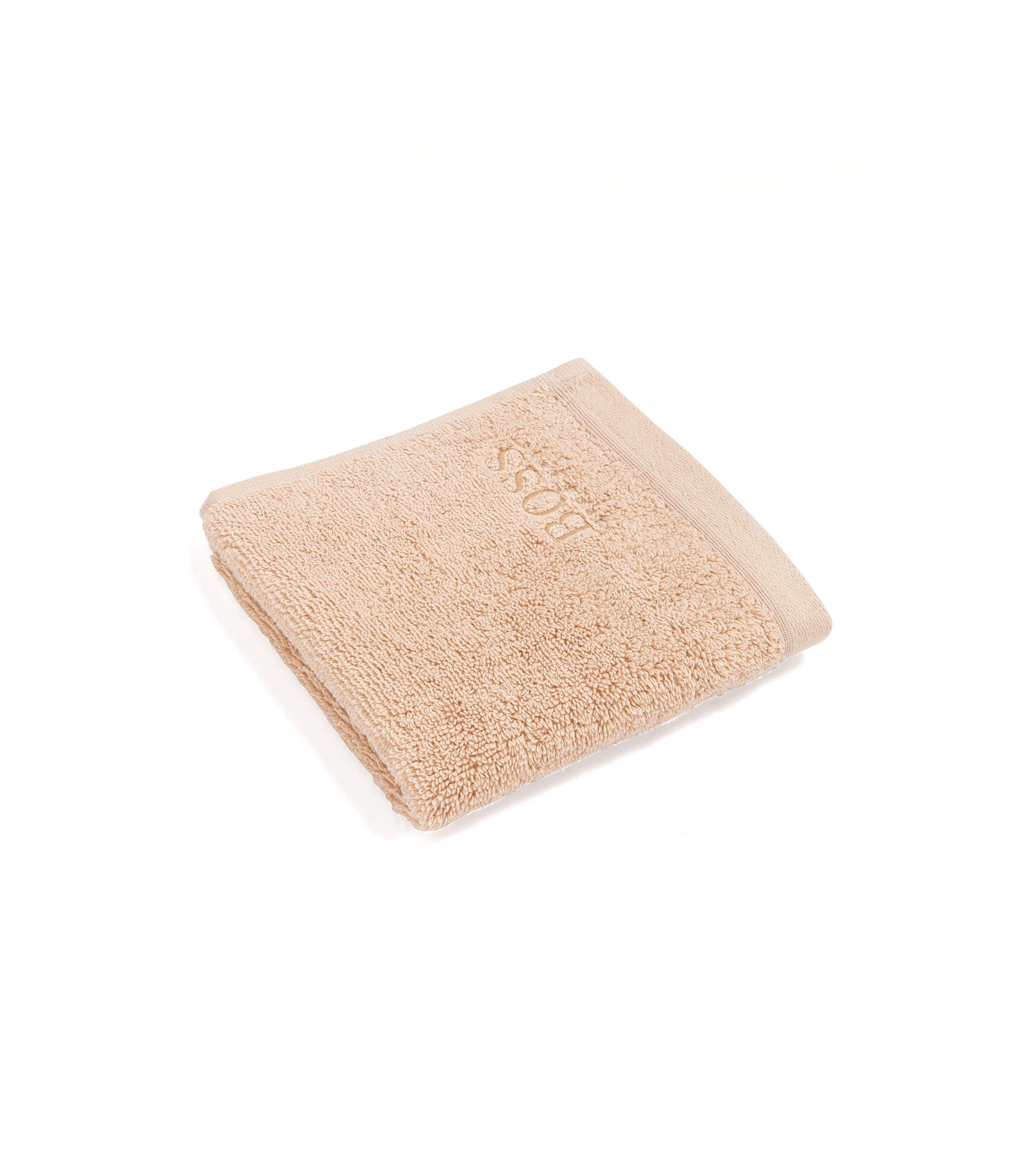 Serviette de toilette pour le visage en coton peigné de la mer Égée, Beige