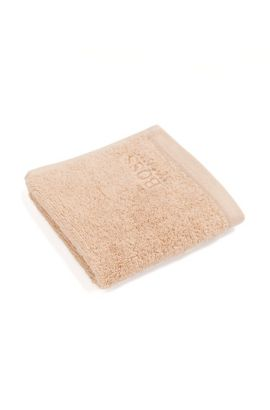 Washcloth 'LOFT Carre' in cotton terry, Beige