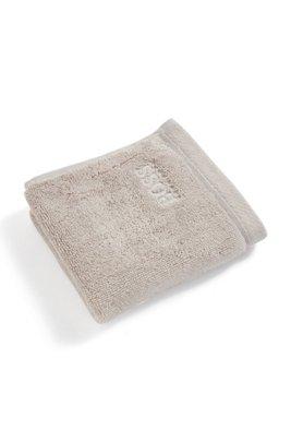 Waschlappen aus gekämmter ägäischer Baumwolle, Hellbeige