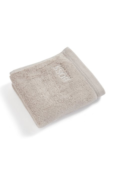 Face cloth in combed Aegean cotton, Light Beige