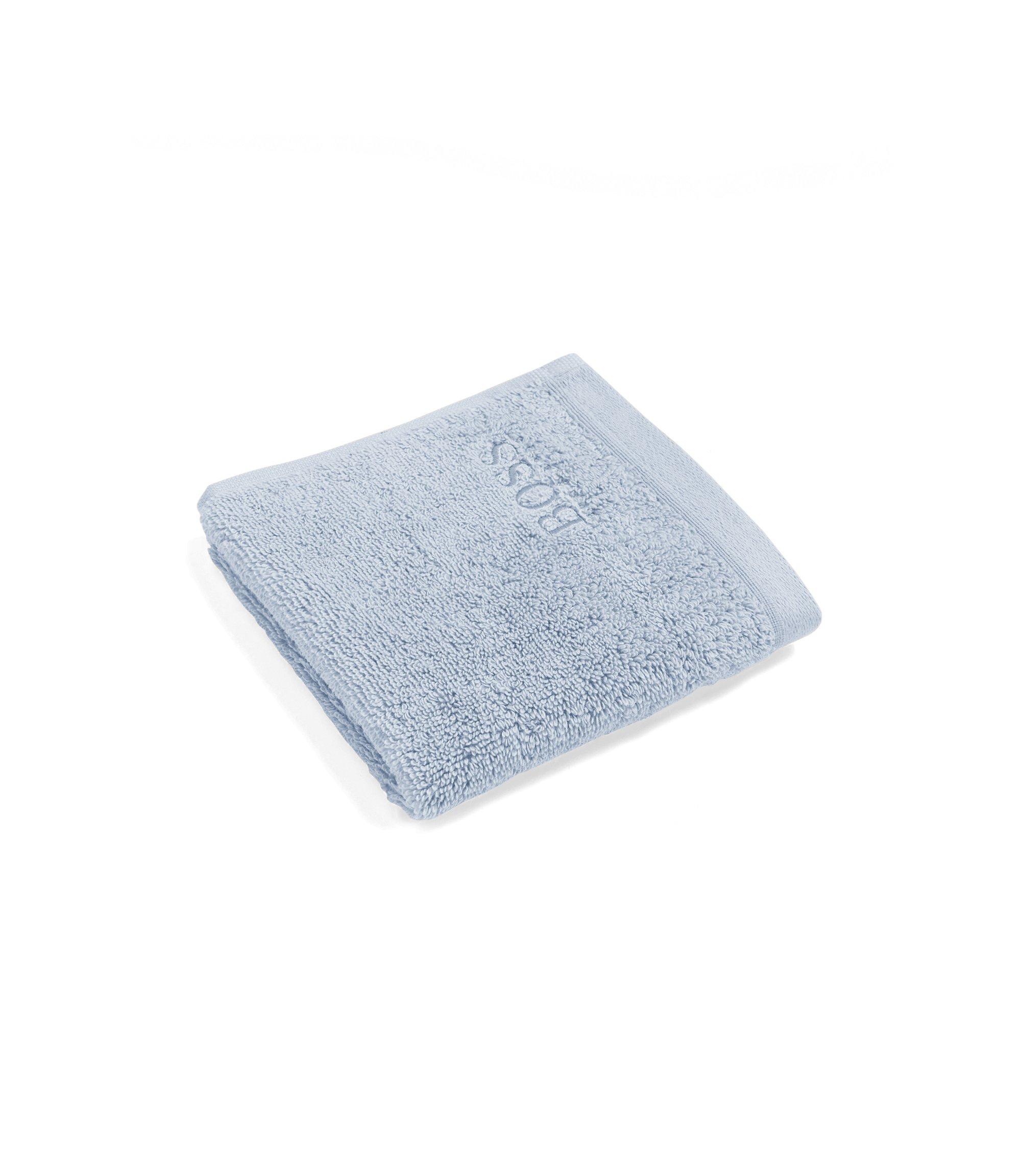Serviette de toilette pour le visage en coton peigné de la mer Égée, Bleu vif