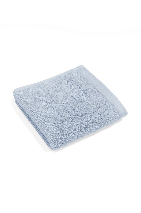 Face cloth in combed Aegean cotton, Light Blue