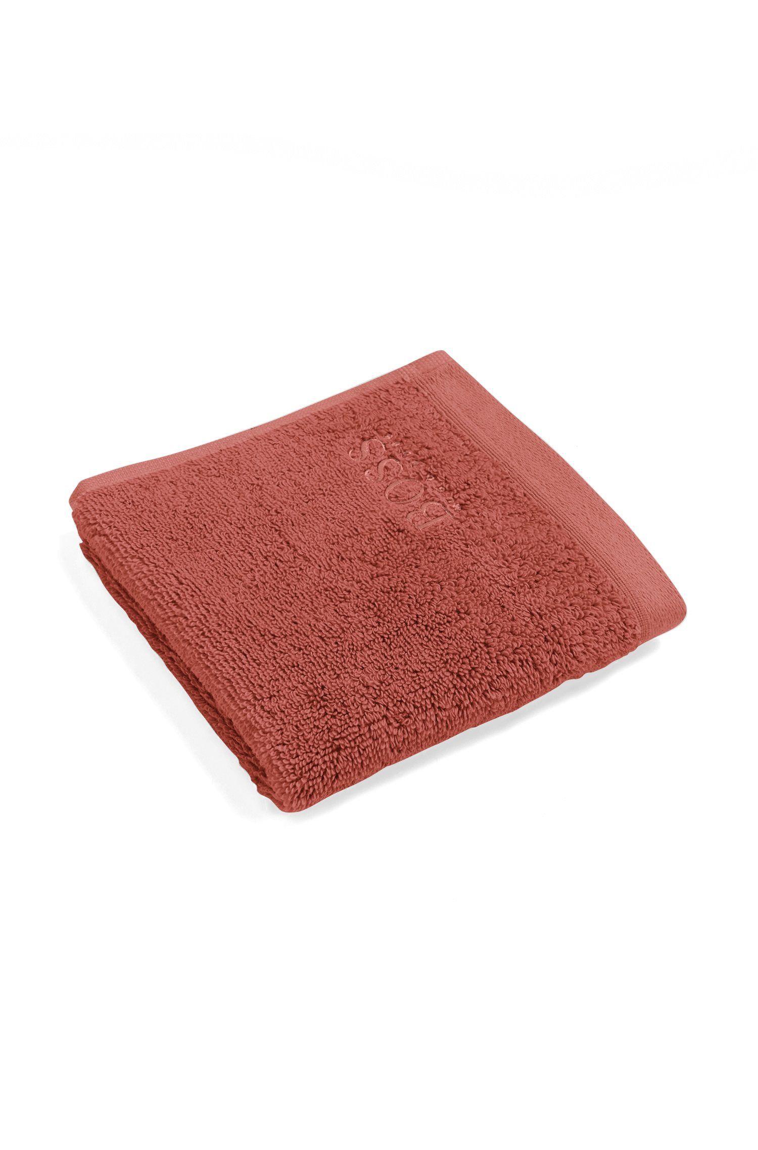 Waschlappen aus gekämmter ägäischer Baumwolle, Dunkelorange
