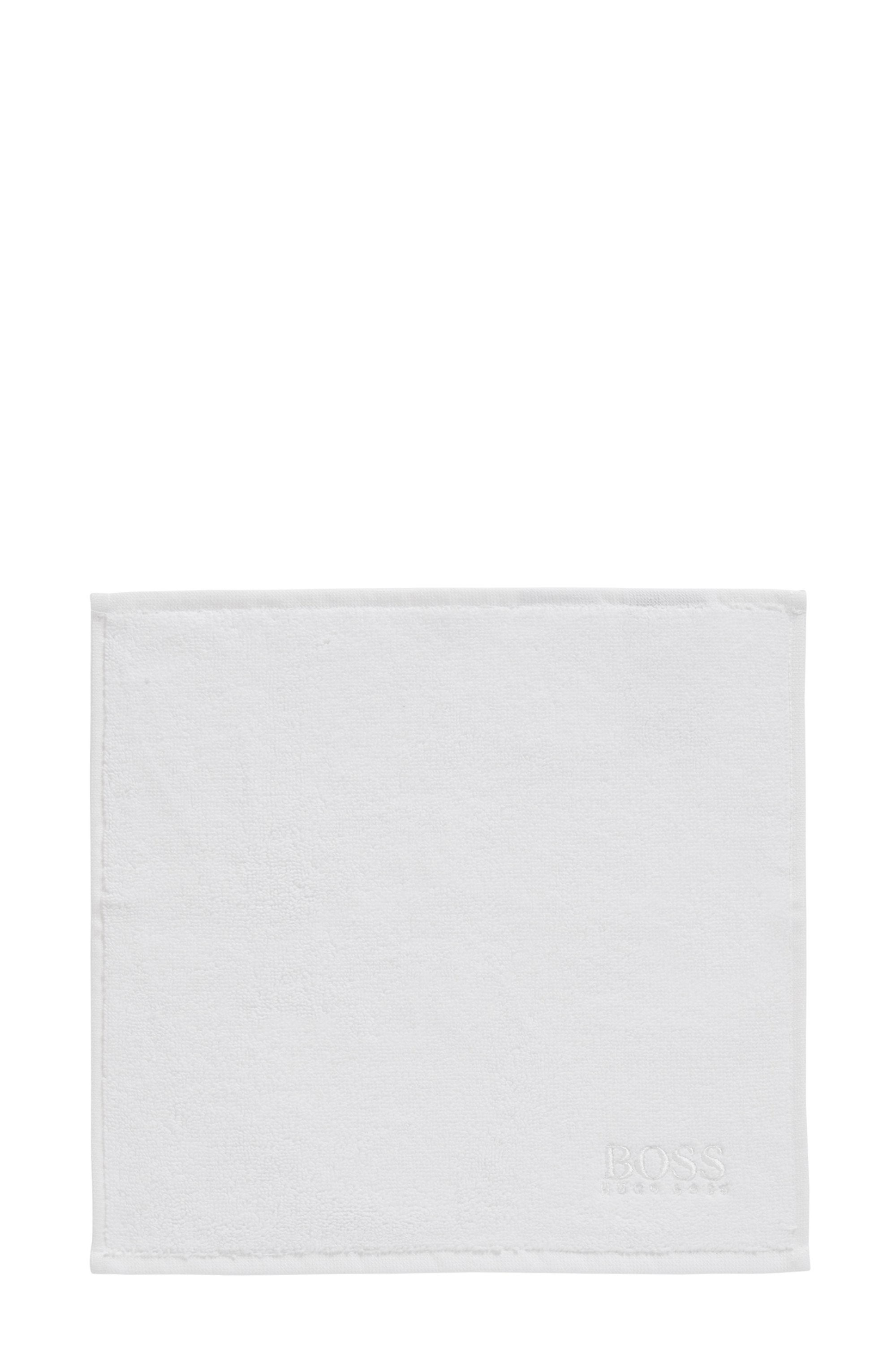 Finest Egyptian cotton face cloth with logo embroidery