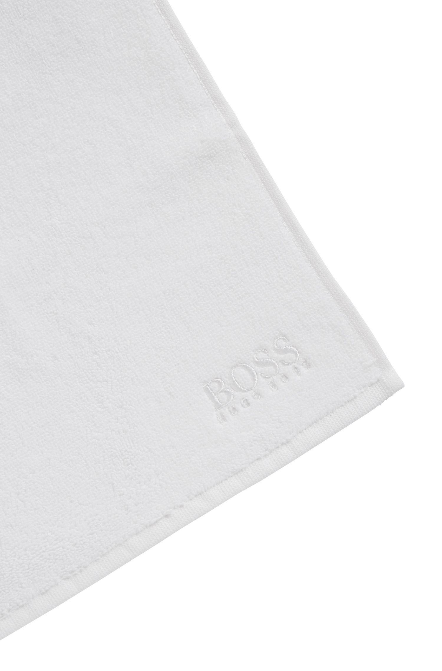 Washandje van de fijnste Egyptische katoen met logostiksel, Wit
