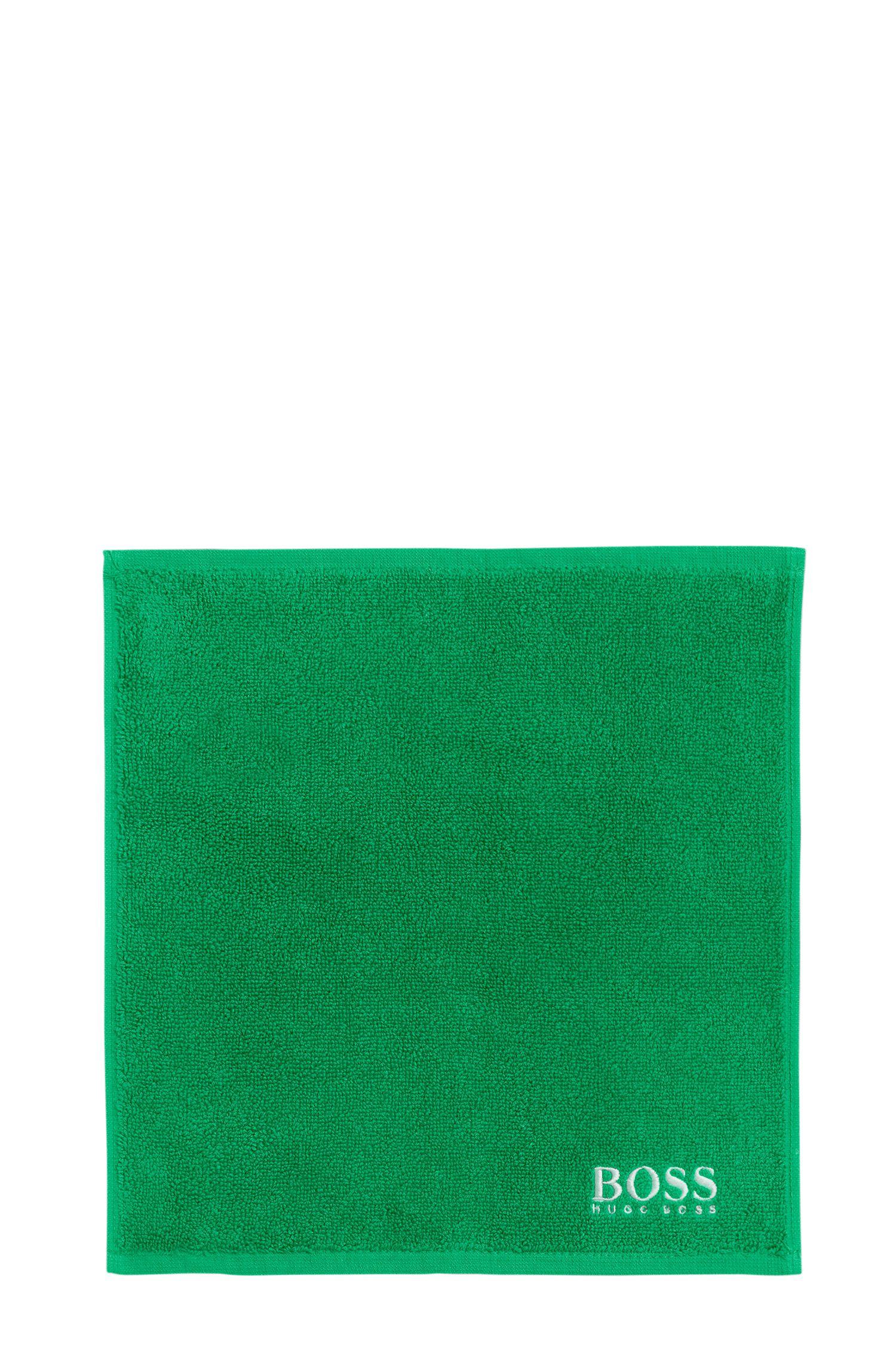 Washandje van de fijnste Egyptische katoen met logostiksel, Groen