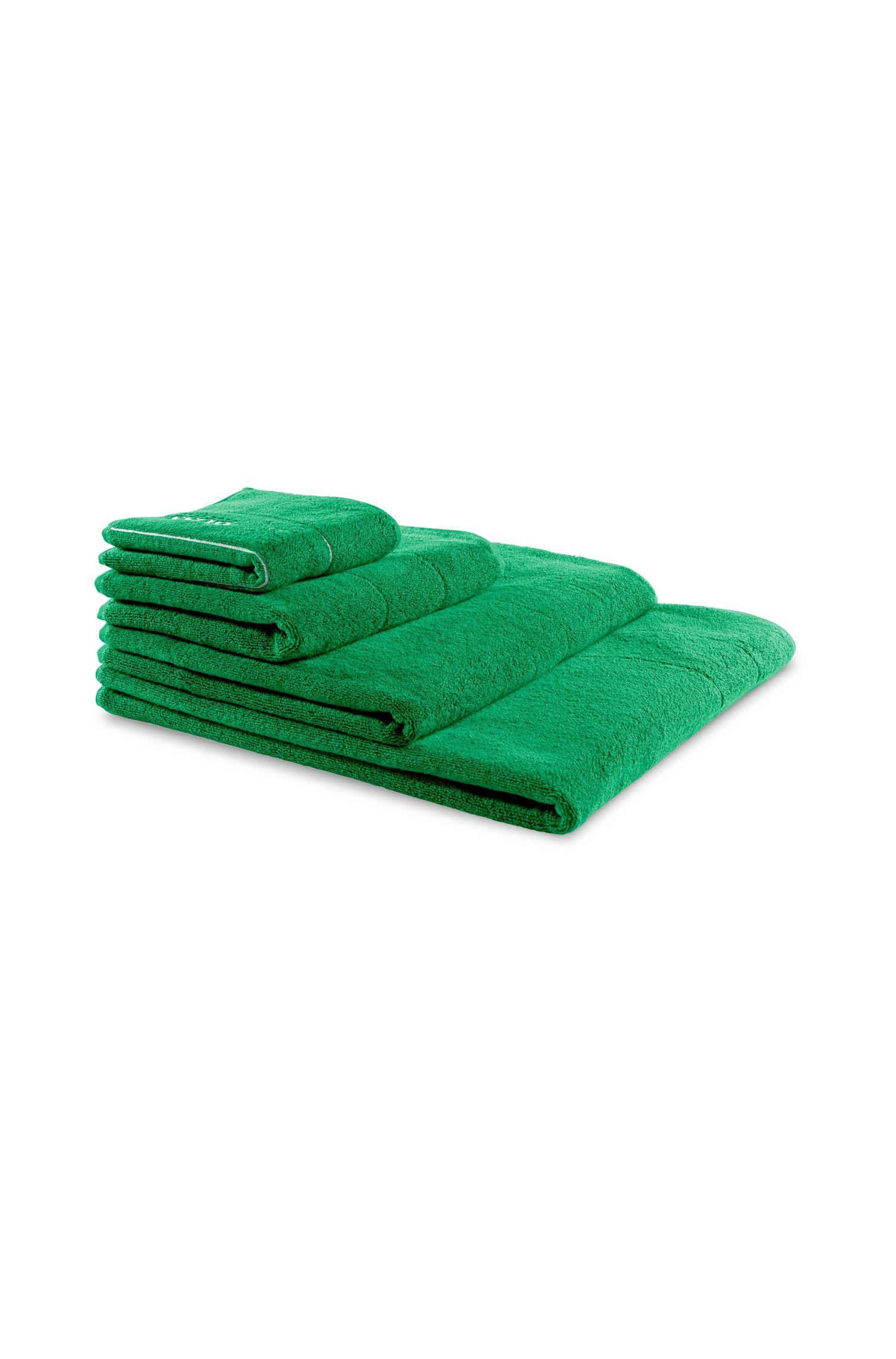 Waschlappen aus feinster ägyptischer Baumwolle mit Logo-Stickerei, Grün