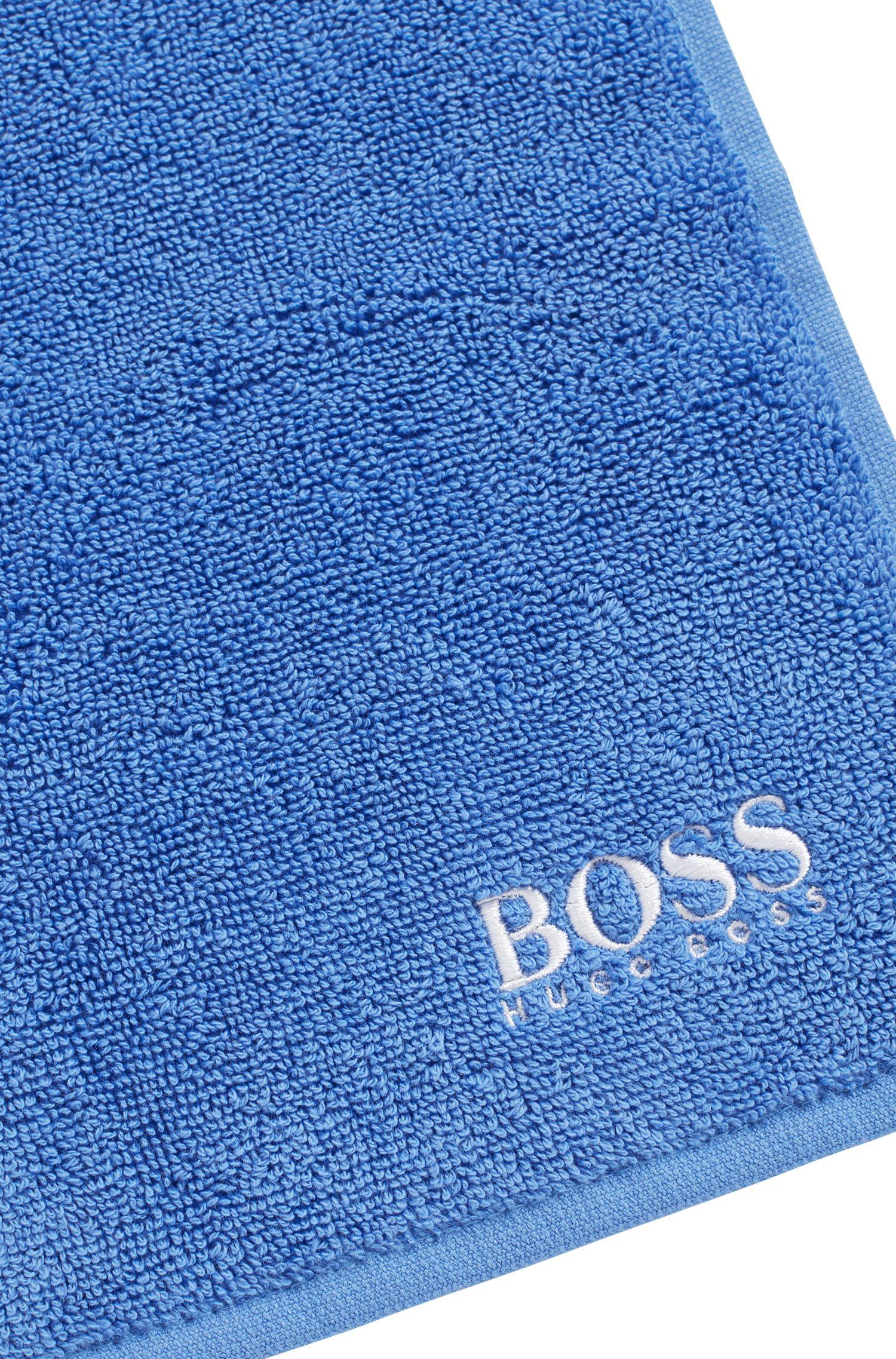 Washandje van de fijnste Egyptische katoen met logostiksel, Blauw