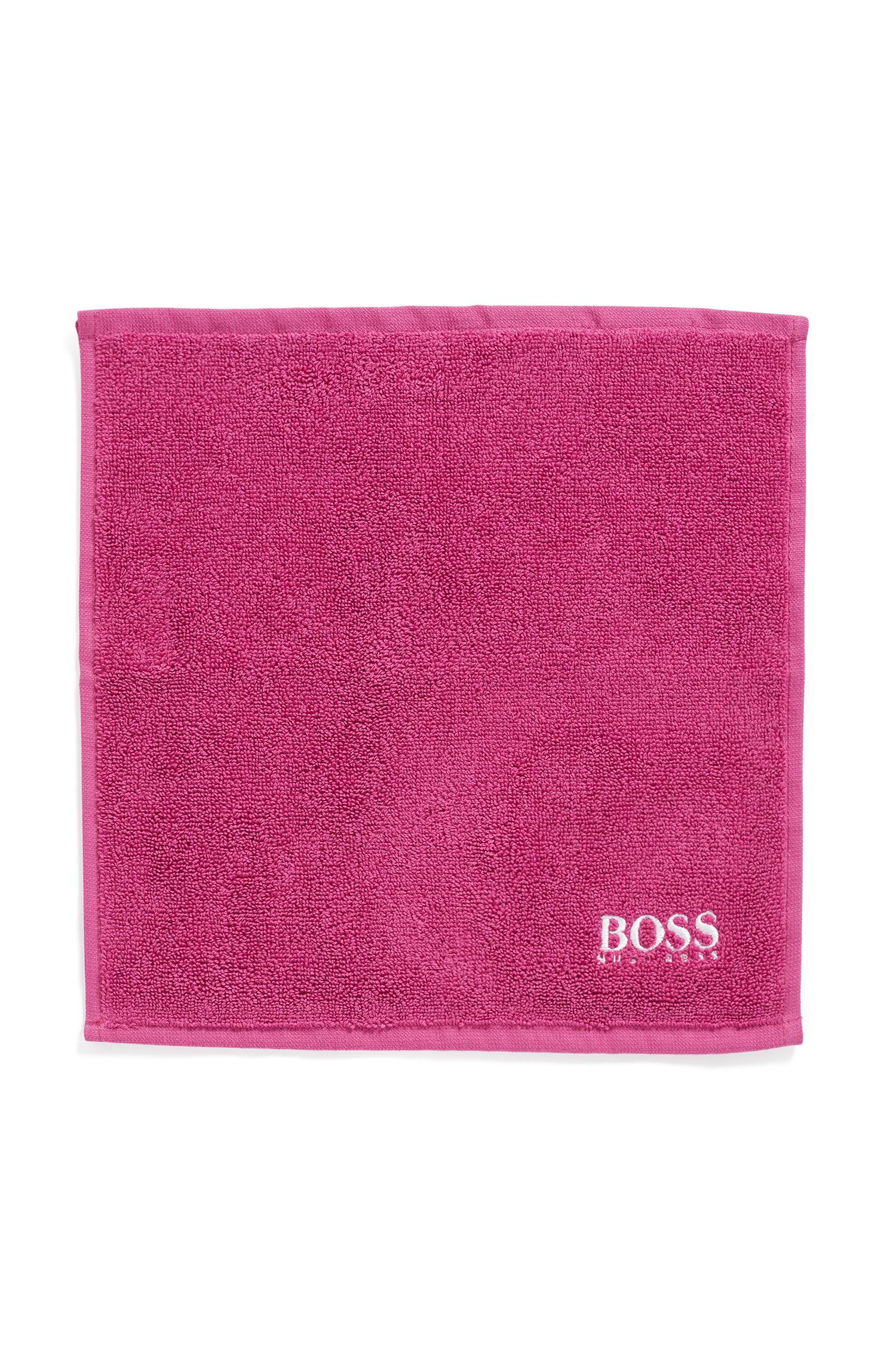 Toalla de cara en algodón egipcio de la máxima calidad con logo bordado, Pink