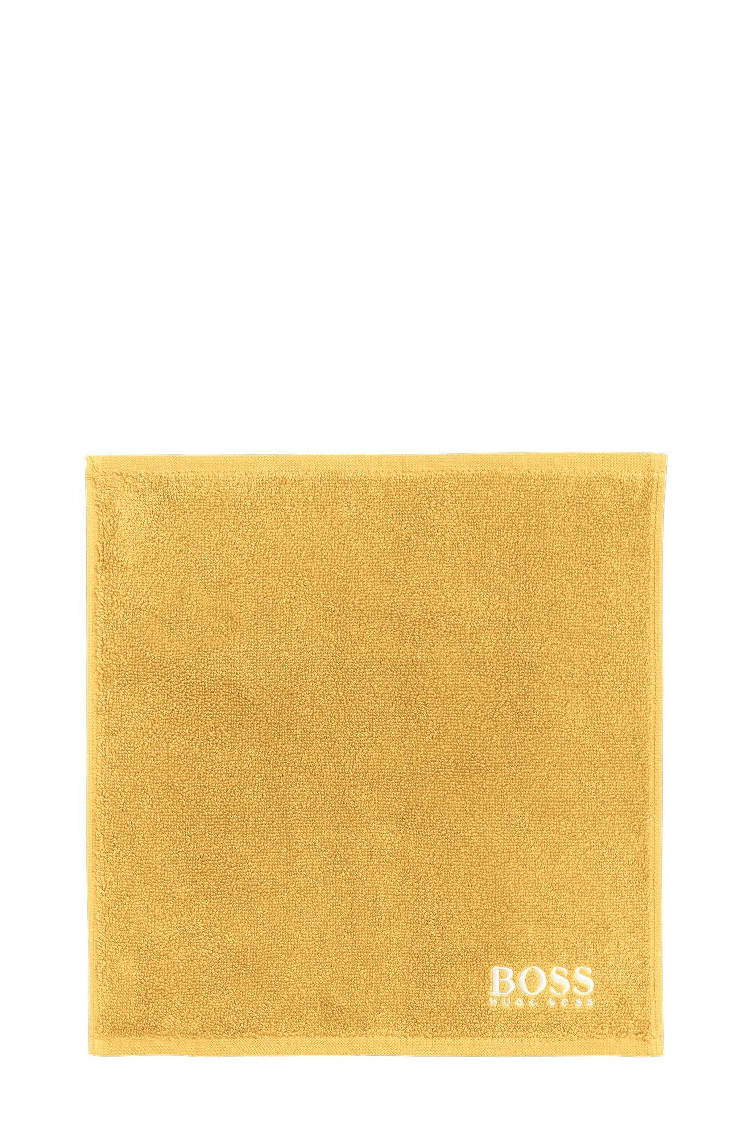 Serviette de toilette pour le visage en coton égyptien des plus raffinés avec logo brodé, Or