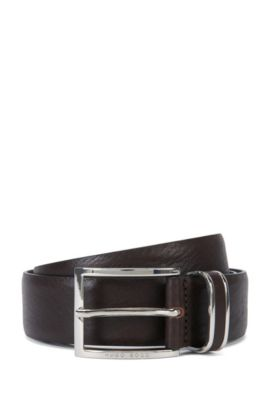 'FROPPIN' | Leather Belt, Dark Brown