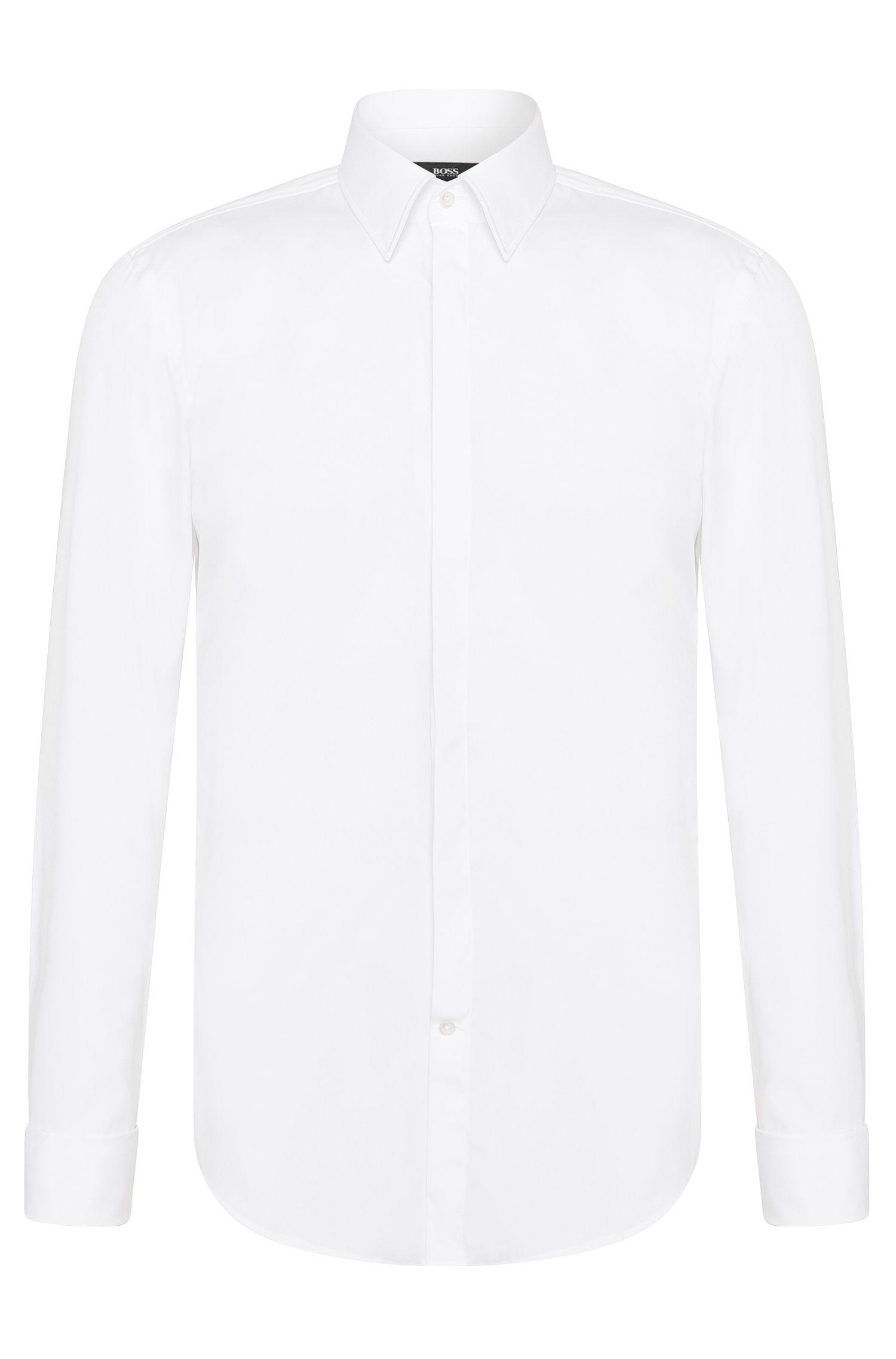 Easy Iron Cotton Dress Shirt, Slim Fit| Ilias, White