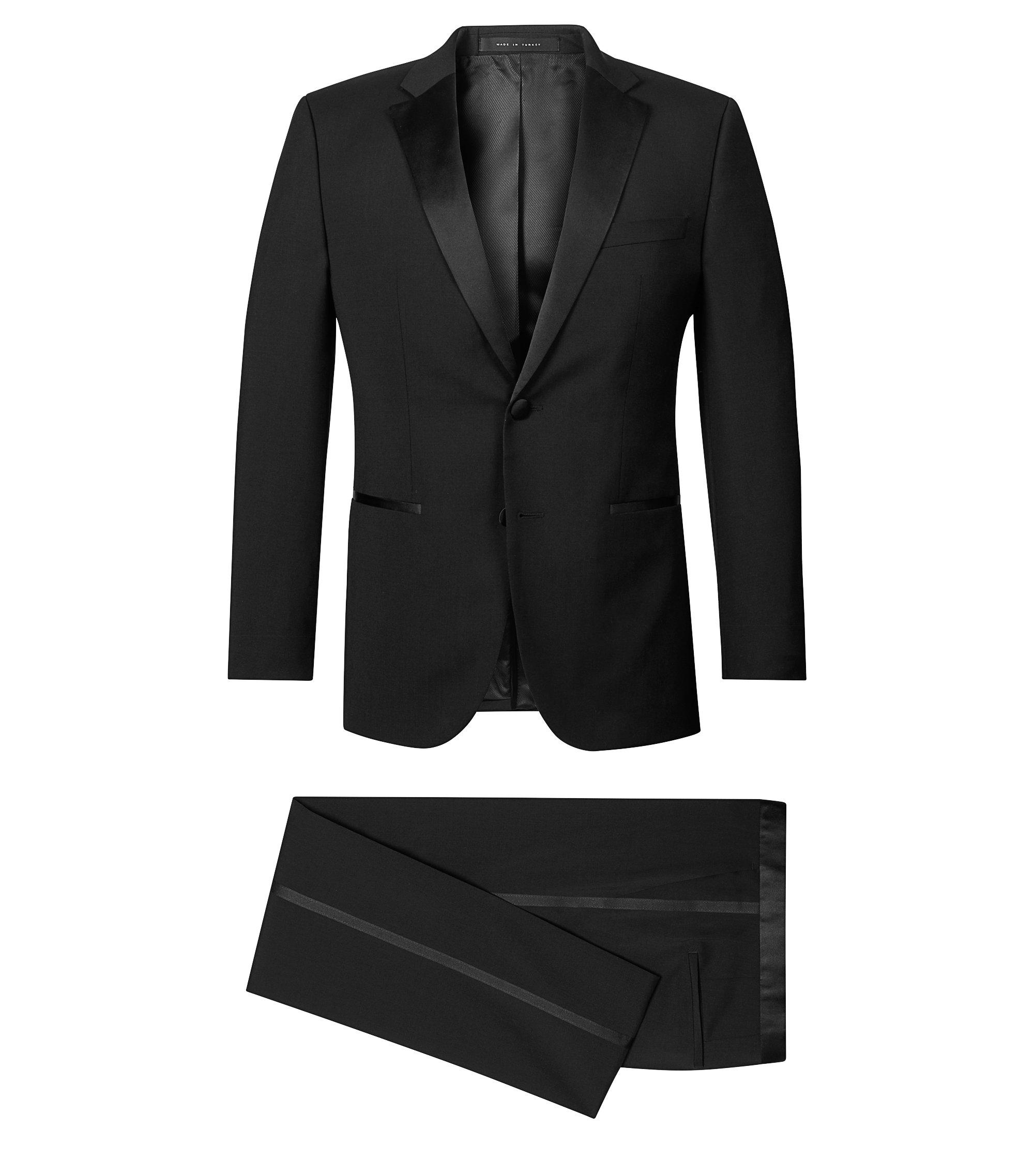 Virgin Wool Tuxedo, Regular Fit | Stars/Glamour, Black