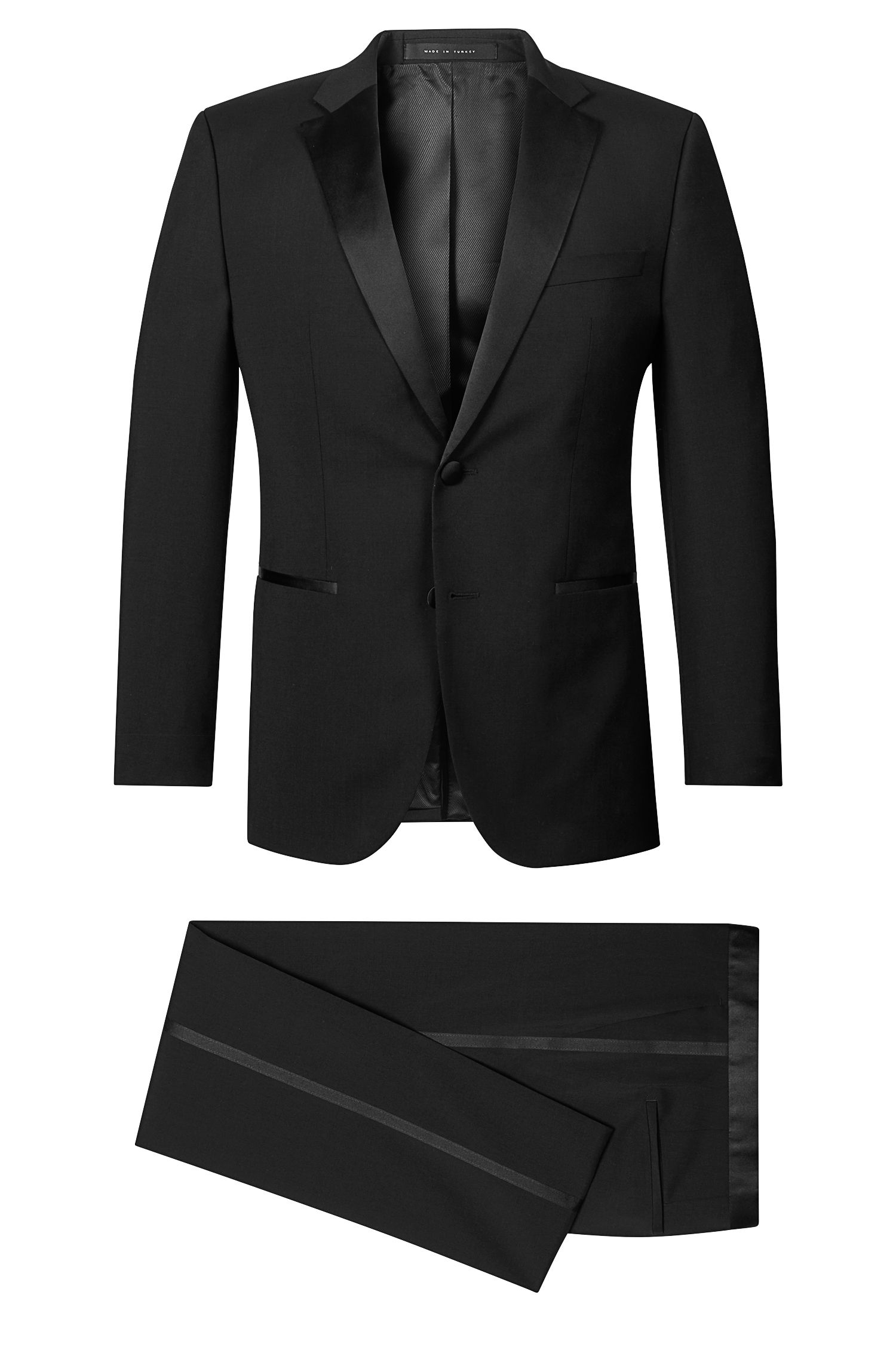 Virgin Wool Notched Lapel Tuxedo, Regular Fit | Stars/Glamour