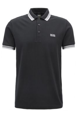 c76a2762 BOSS - Regular fit polo shirt with three-button placket