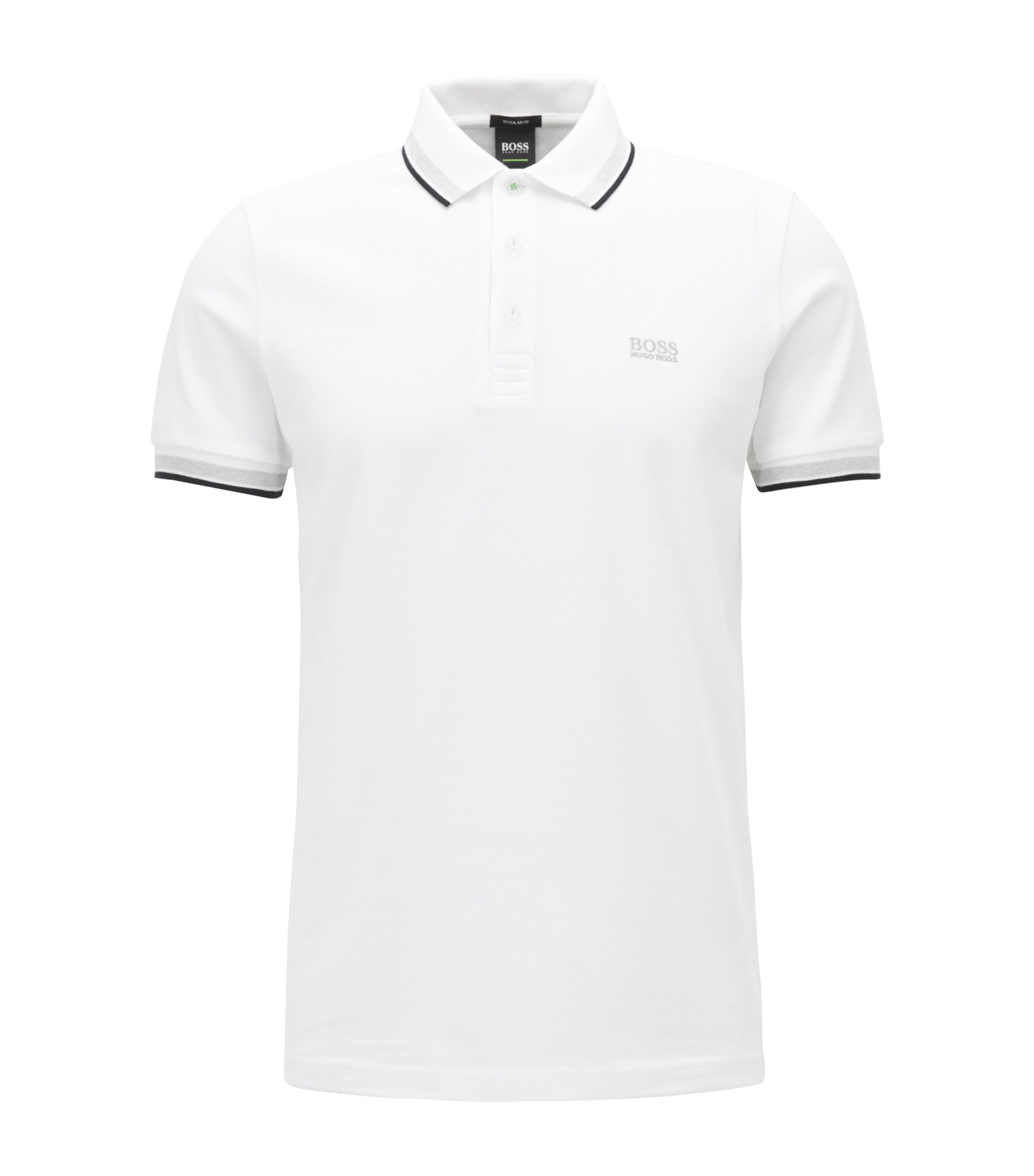 Cotton Polo Shirt, Modern Fit | Paddy, White