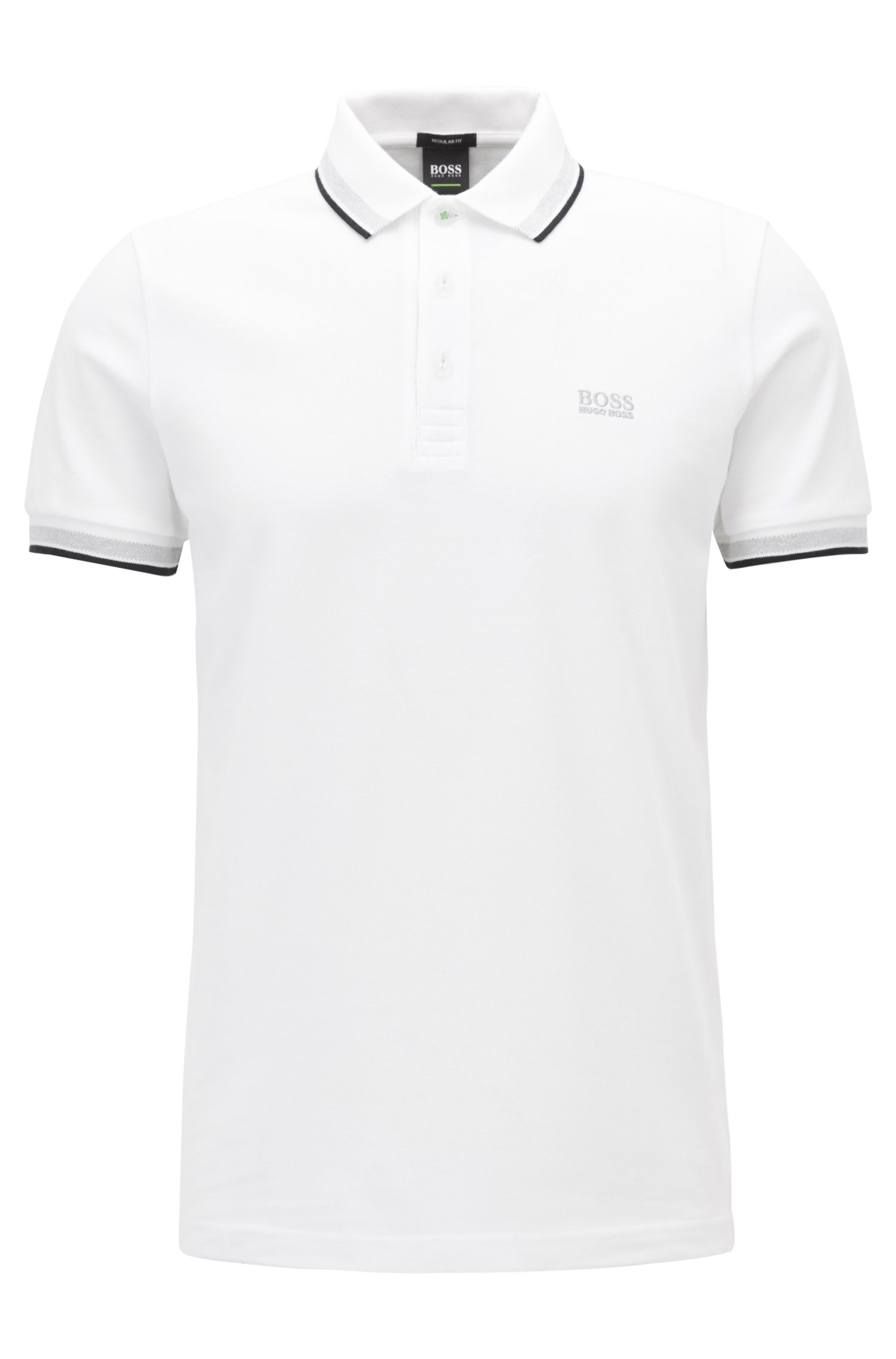 Cotton Polo Shirt, Modern Fit   Paddy