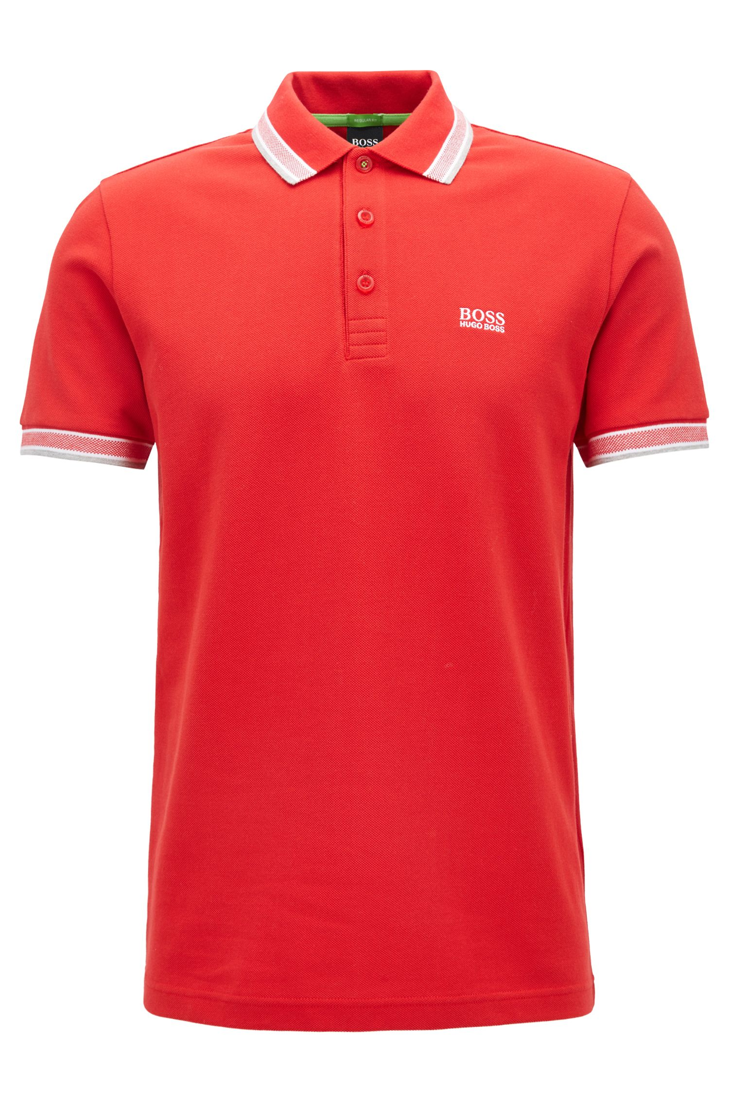 Cotton Polo Shirt, Modern Fit | Paddy