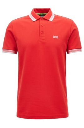 'Paddy' | Modern Fit, Cotton Polo Shirt , Red