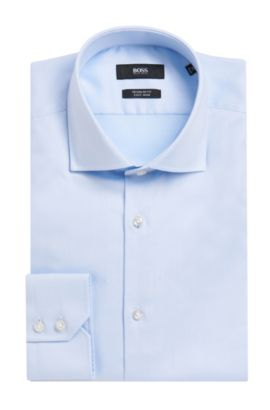 Cotton Dress Shirt, Regular Fit | Gerald , Light Blue