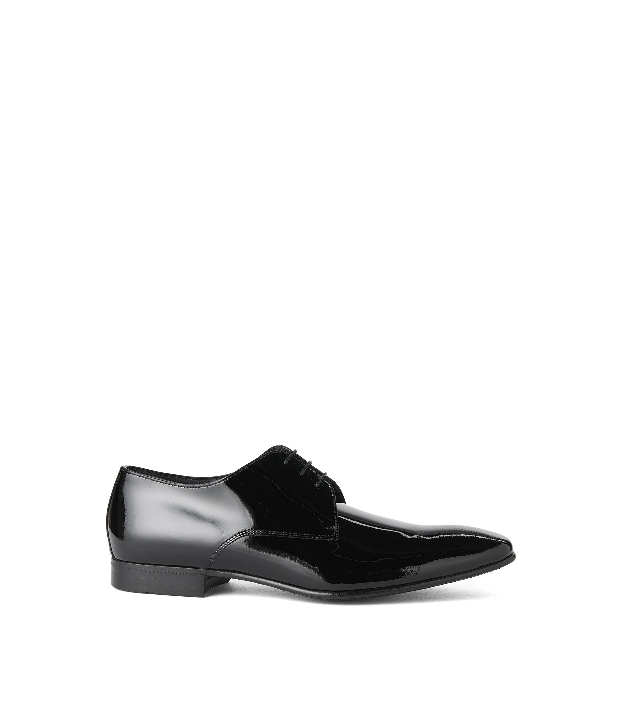 Italian Patent Leather Derby Tuxedo Shoe | Cristallo, Black