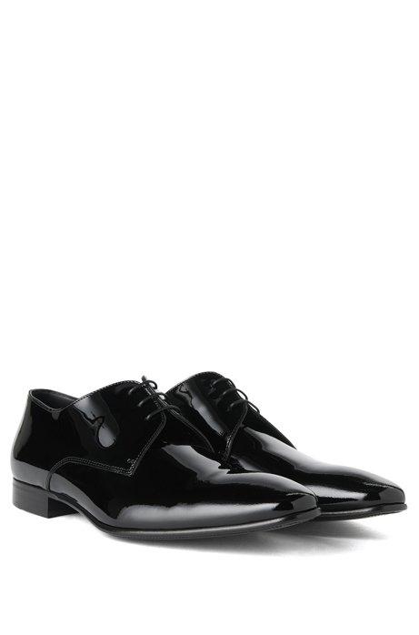 BOSS Hugo Boss Italian Patent Leather Derby Tuxedo Shoe Cristallo 11.5 Black Cheap Sale Best Place Buy Cheap Best Wholesale Buy Cheap For Sale Free Shipping Choice 12hRNCrMqL