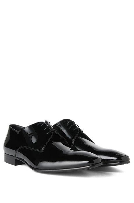 Italian Patent Leather Derby Tuxedo Shoe Cristallo