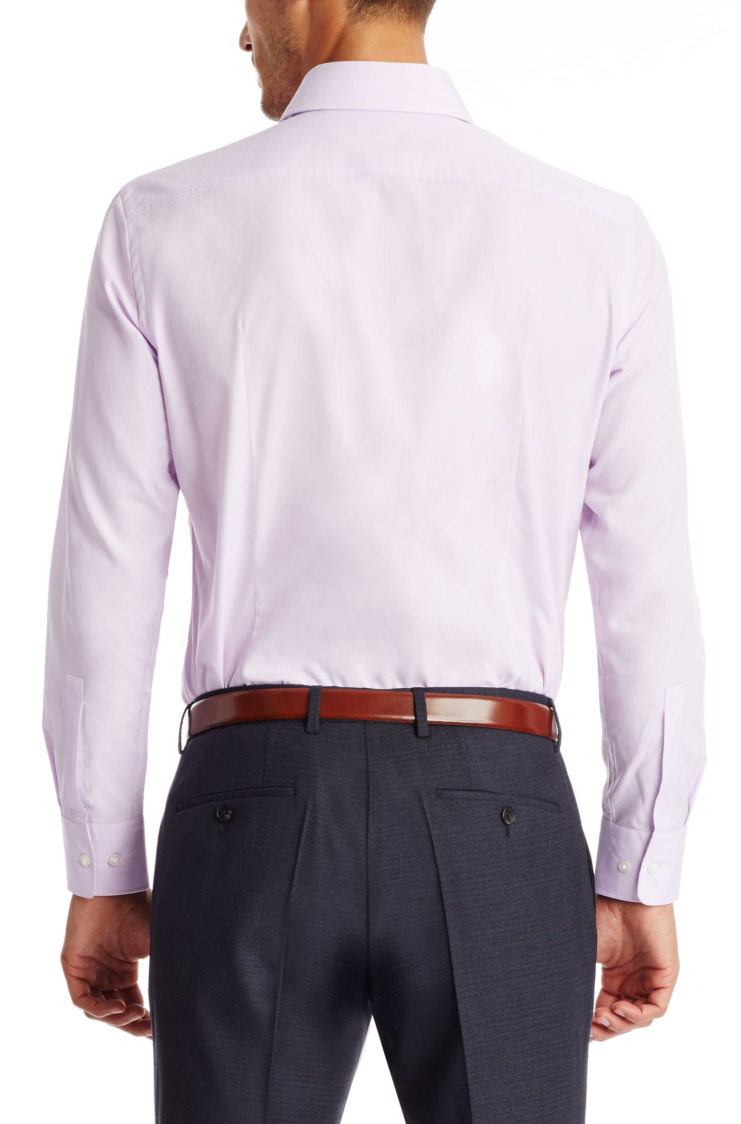 Cotton Dress Shirt, Sharp Fit | Miles US, Light Purple