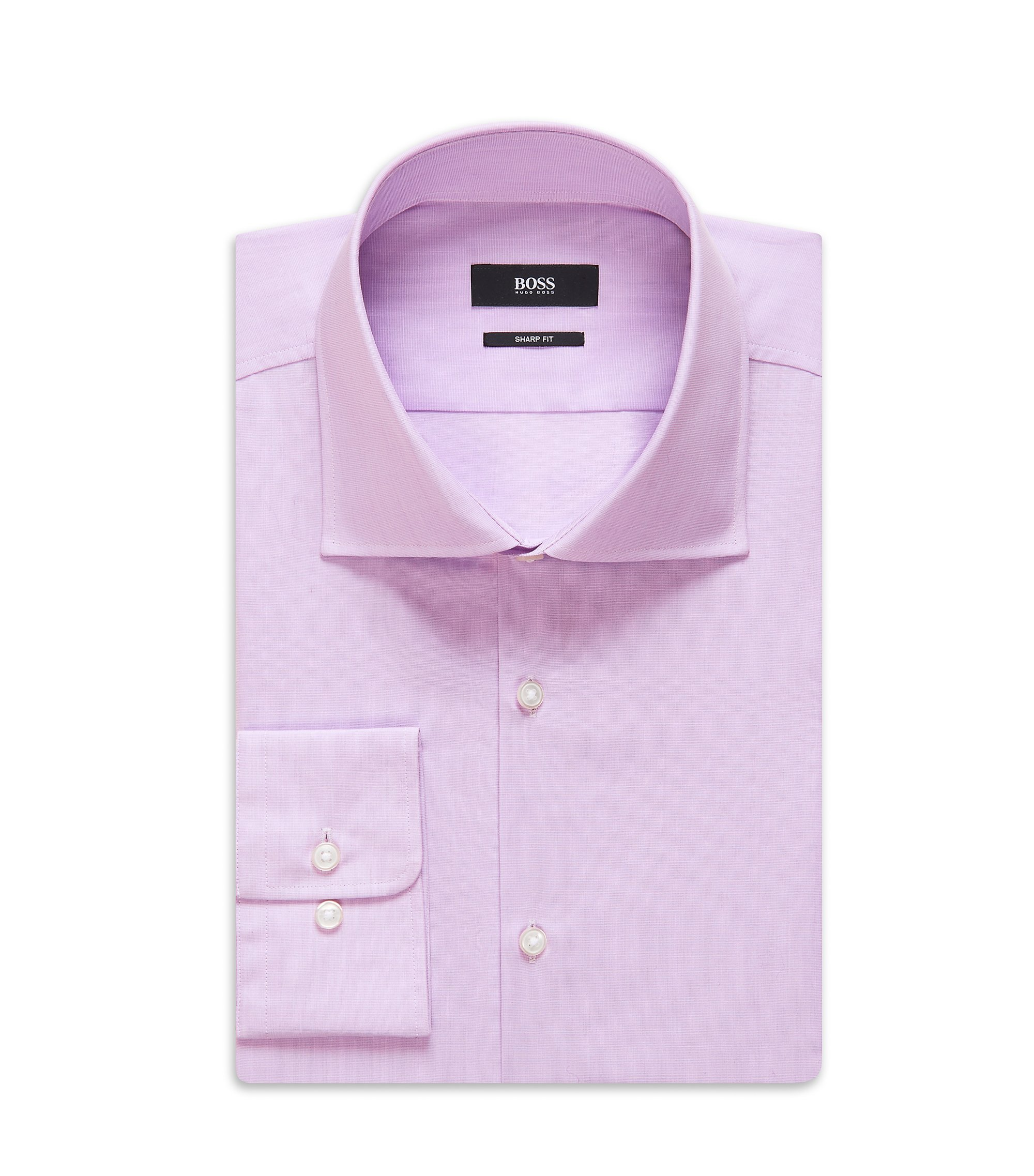 Cotton Dress Shirt, Sharp Fit | Miles US, Light Purple