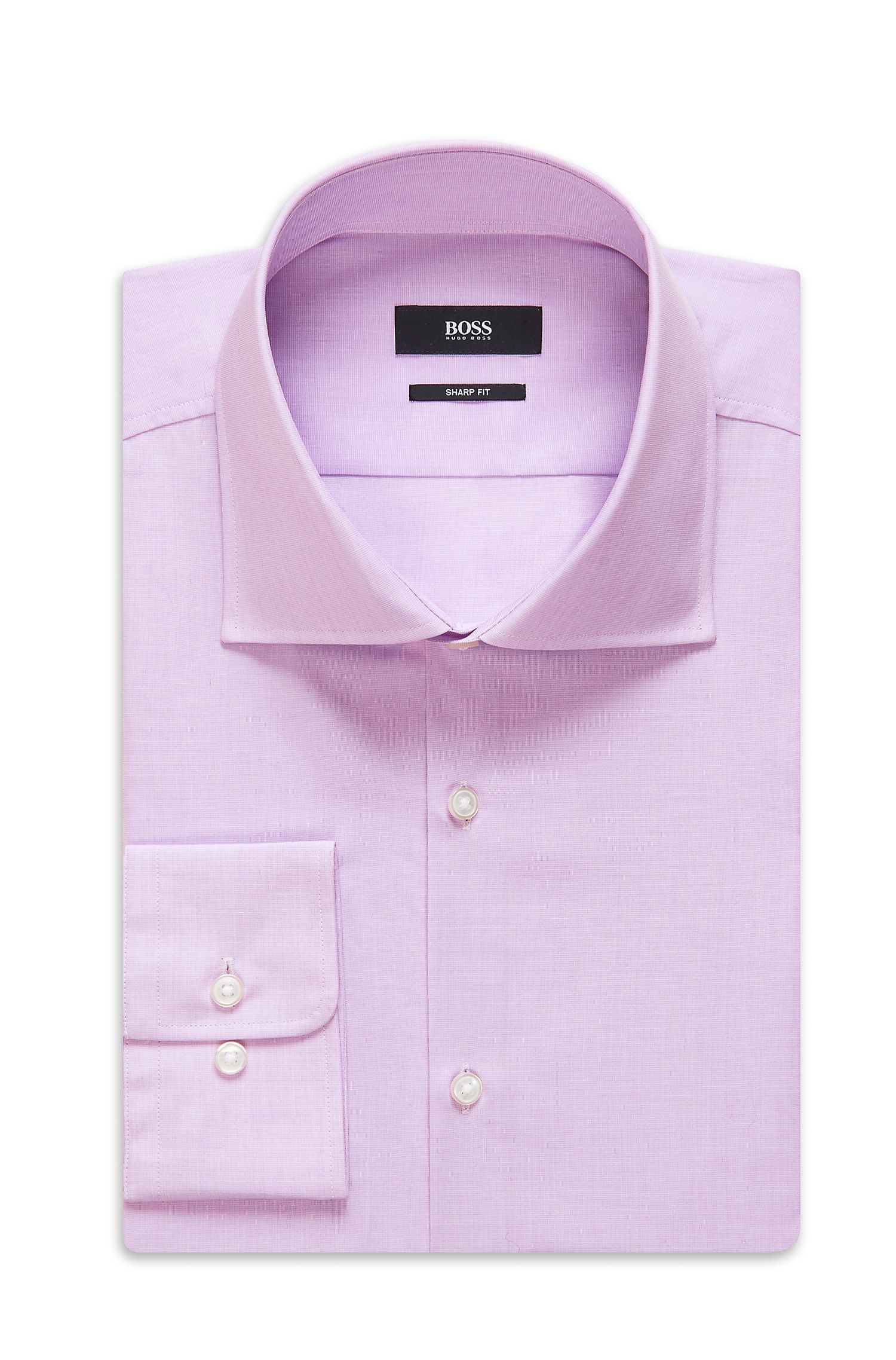 'Miles US' | Sharp Fit, Spread Collar Cotton Dress Shirt
