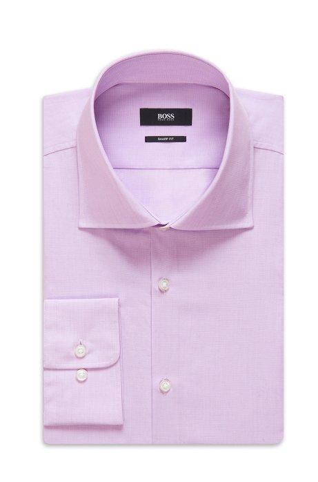 Cotton Dress Shirt, Sharp Fit   Miles US, Light Purple