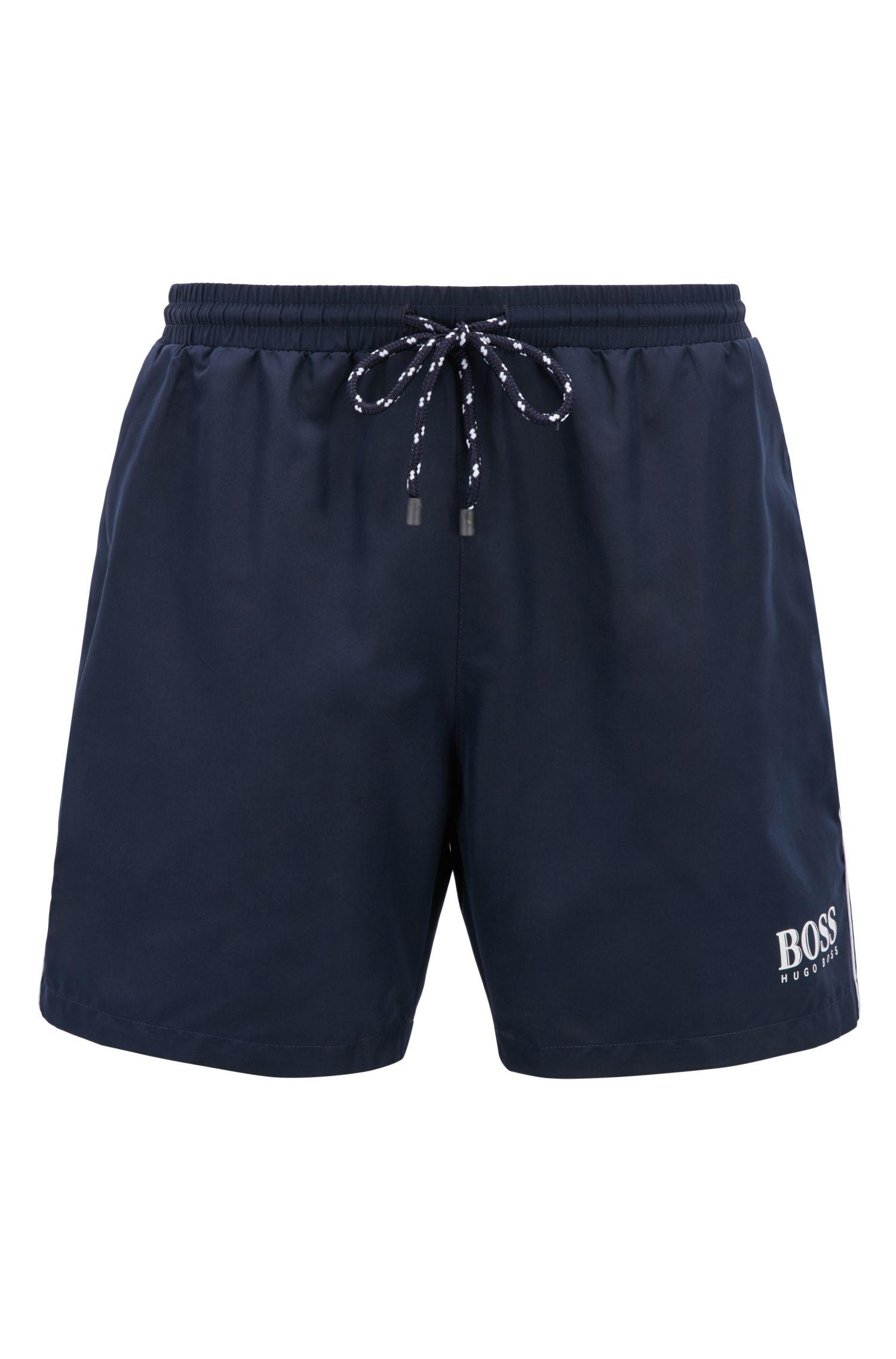 'Starfish BM' | Quick Dry Swim Trunks, Dark Blue
