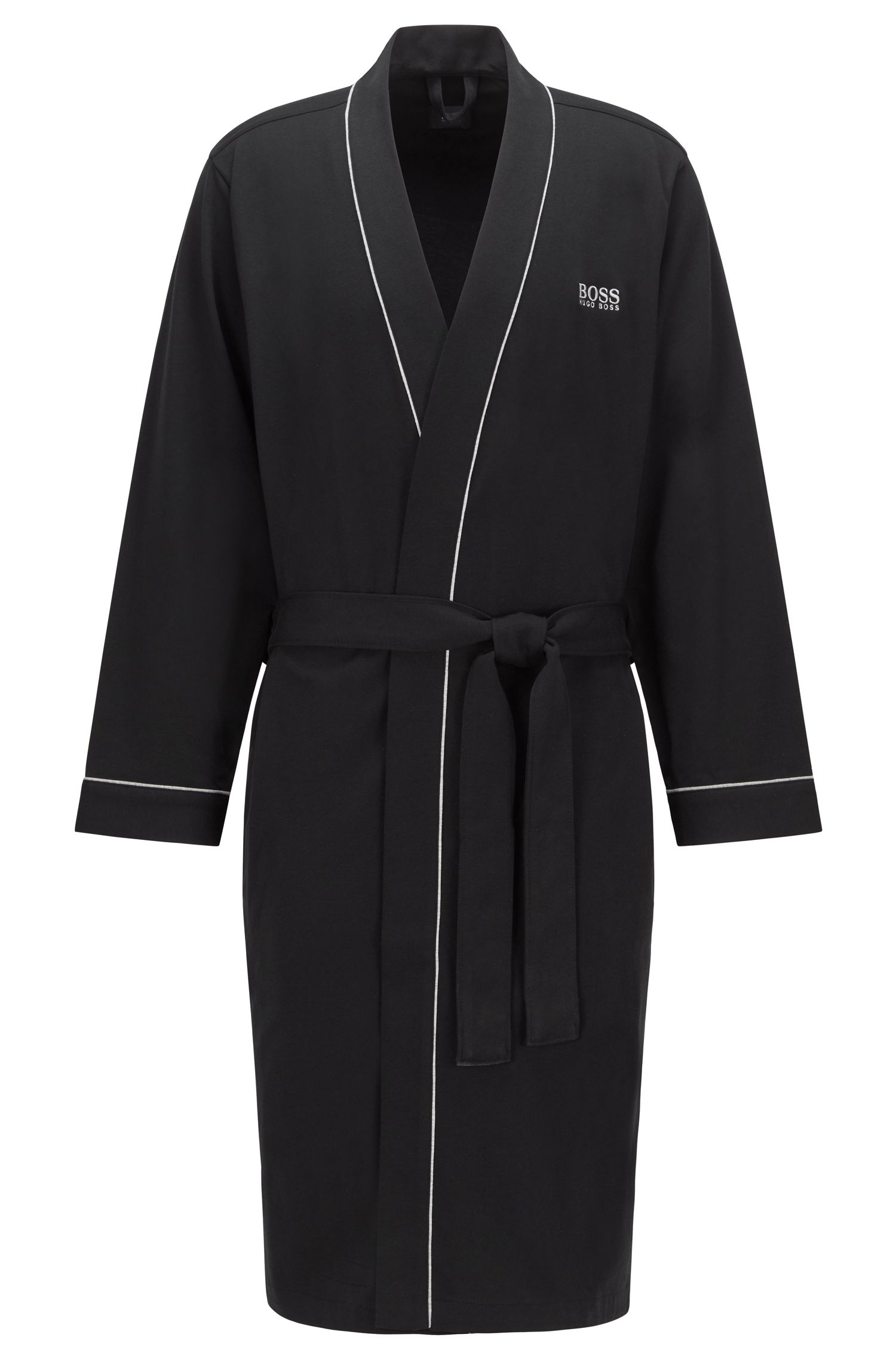 Cotton Robe   Kimono BM, Black