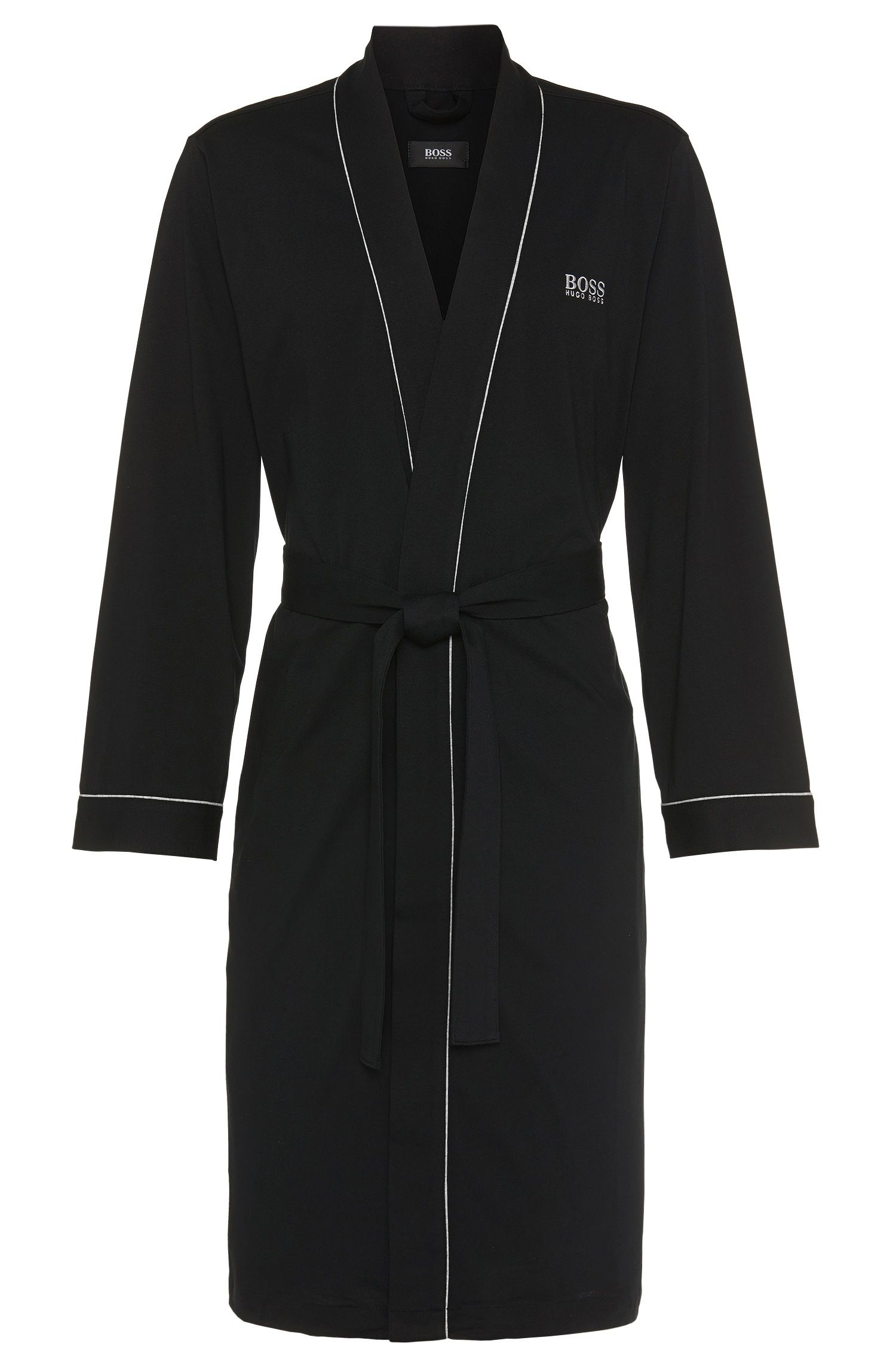 Cotton Robe | Kimono BM, Black