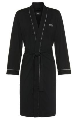 'Kimono BM' | Cotton Robe, Black